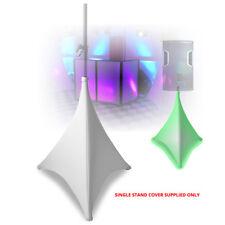White Speaker Stand Cover for DJ Lycra Spandex Tripod 4-Way Stretch Scrim 70cm
