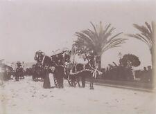 NICE Bataille des fleurs France Photo n4 Snapshot Vintage Citrate 1896