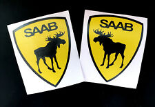 saab shield decal moose elk sticker interior exterior 2X pcs