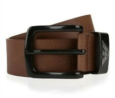 """Emporio Armani Logo BELT New With Tags """"95"""" Brown"""