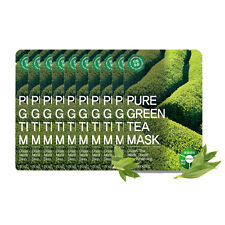 TOSOWOONG Pure Green Tea Mask Sheet Whitening Mask 10pcs SET