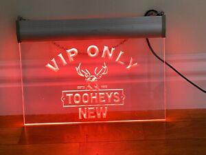 TOOHEYS VIP ONLY ILLUMINATED SIGN MAN CAVE