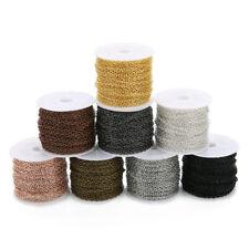 Cable de cadena-enlace 5x7mm-Color Gris Plomo 30 pies 100-Carrete de artesanía a granel