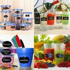 56 Chalkboard Stickers Bottle Kitchen Glass Bottles Jar Labels Decal Free PENS