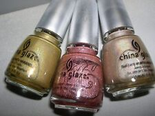3x CHINA GLAZE Lot **GR8 & RATED HOLOGRAPHIC & FYI** Holographic Nail Polish~NEW