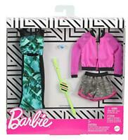 Barbie Fashions 2-Pack Clothing Set, Include Pink Sport Jacket, Gray Shorts, Blu