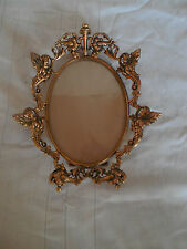 "Ornated ovel bronze, brass frame 7"" x 5 1/4"" lovely!"
