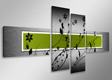 Images sur toile sur cadre 160 x 70 cm abstrait vert pret a accrocher 6534
