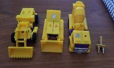 Vintage Yellow Devastator Lot 3 Transformers Accessory