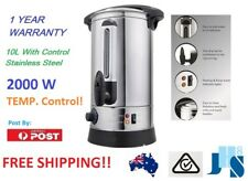 10L Litre 40 Cup Electric Stainless Steel Hot Water Boiler warmer Heater Urn tap