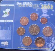 Irlanda Moneda Euro Set 2002 Nuevo En Blister KARLSPREISES kms todas las monedas de 1 Centavos a 2 €