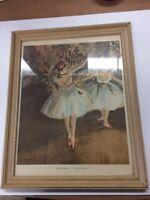 Edgar Degas Two Dancers Picture Vintage Print