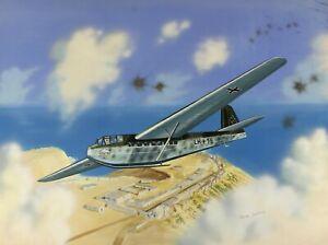 James Goulding | ORIGINAL goauche artwork | German transport glider africa WWII