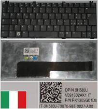 Tastiera Qwerty Italiana DELL Mini 12 1210 V091302AK1 0H580J PK1305G01D0 Nero