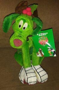 1998 WARNER BROS K-9 GREEN REINDEER MARVIN MARTIAN PLUSH BEAN BAG TOY W/TAGS