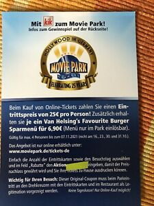 Movie Park Rabatt Gutscheinbis 4 Personen😃 😃😃😃gültig bis 07.11.2021