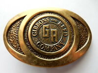 BTS Group Gibbons And Reed Company Brass Belt Buckle