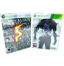Lot Resident Evil 5 et 6 Xbox 360 Editions Spéciales Steelbook avec fourreaux