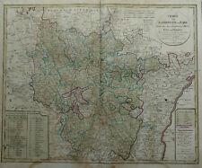 KUPFERSTICHKARTE FRANKREICH LOTHRINGEN METZ VERDUN ELSASS GÜSSEFELD HOMANN 1793