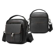 Men's Crossbody Shoulder Bag Zip Leather Messenger Bags Business Tote Wallet