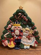 New ListingFitz & Floyd - Nutcracker Sweet Christmas Tree Canapé Plate - 1992 - Retired
