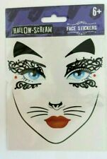 Halloween Face Stickers,Face Tattoo Cat Mask Age 6+