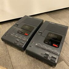 Lot of 2 Untested Sony M-2000 Microcassette Transcribers No Power Adapter