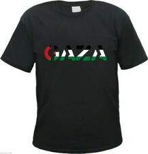 Gaza Camiseta Hombre Con Texto En Flaggendesign - Negro - Palestina West Jordan