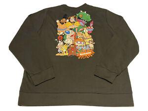 Nickelodeon Sweatshirt Cast & Crew 90s Theme Size 2XL Brown Men's Viacom A2