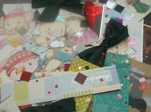 Lucky Dip 75+ PIECE Christmas Cardmaking Kit Craft Room Clearout Grab Bag