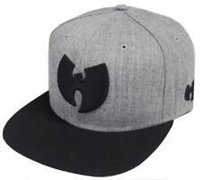 Wu-Wear Wu Symbol Logo Snapback Cap Wu-Tang Clan Heather Grey Black  Basecap Men