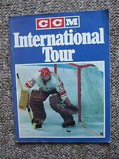 1974/75 Red Army & Czech Juniors vs. WHL & OHL. Program + ticket. Tretiak, etc.