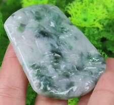 Certified Green 100% Natural Jade Jadeite Flower Pendant 11948N