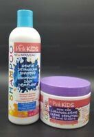 LUSTER'S PINK KIDS Detangler Shampoo + Frizz Free Curling Creme jar  twin pack