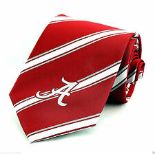 Alabama Crimson Tide Mens Necktie University College Stripe Red Neck Tie New