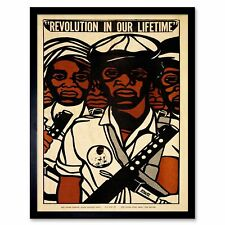 Propaganda Political Civil Rights Black Panther Party 12X16 Inch Framed Print