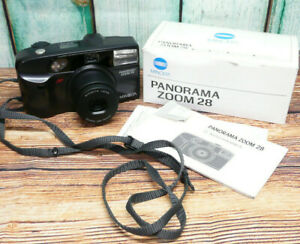 Boxed Fully Working Minolta Panorama Zoom 28 - 38-70mm Lens 35mm Film Camera