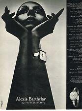 PUBLICITE ADVERTISING 024   1973   ALEXIS BARTHELAY   collection montre