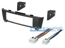 NEW CAR STEREO RADIO DASH INSTALL MOUNTING TRIM BEZEL KIT WIRING HARNESS PLUG