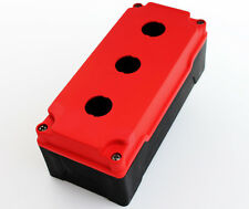 PUSH BUTTON BOX HI STRENGTH PBT PLASTIC 3 HOLE RED 2076