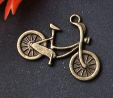 20 piezas bronce color plata tibetana moto charms 26mm SH159