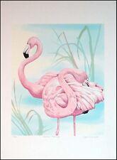 "Joyce Kasprzyk ""American Flamingo"" Serigraph Hand Signed Art Print MAKE AN OFFER"