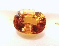 2.24 Carats Natural Loose Gemstone  Oval Orange Yellow Sapphire  8x6.4x4.7 mm