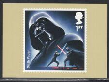 Great Britain Darth Vader Star Wars Royal Mail Stamp Card
