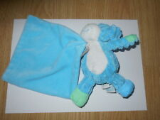 DOUDOU chien bleu avec carré BABY NAT' vert babynat