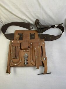 Vintage Klein Tools NO. 5162 Leather Electricians Lineman Tool Belt Pouch