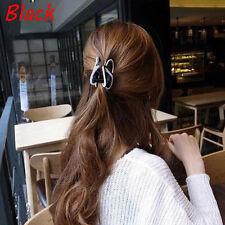 New Women Elegant Hair Claw Acrylic Full Diamond Butterfly Hairpin Hair Clip