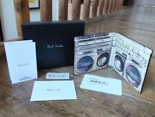 *** PAUL SMITH Black Leather Wallet, Ghetto Blaster Design, New, Boxed, £175 (4)