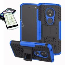 Per Motorola Moto G6 Play / E5 Hybrid Custodia Outdoor 2teilig Blu + H9 Vetro