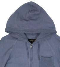 Men's QUIKSILVER Grayish Blue Lighter Weight Hoodie Zip Sweater Medium M NWT NEW